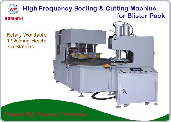 Dual Head Rotary HF Sealing and Cutting Machine for Tools and Household Appliance Clamshell/Blister Pack