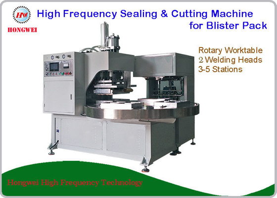 2 Head Rotary Welding Machine For Sealing And Cutting Household Appliance Clamshell