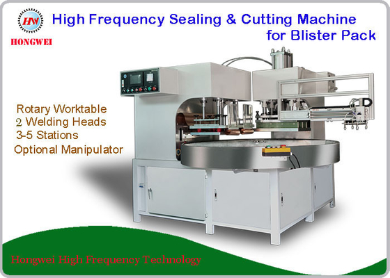 2 Welding Head Clamshell Sealing Machine , High Frequency Sealing Machine