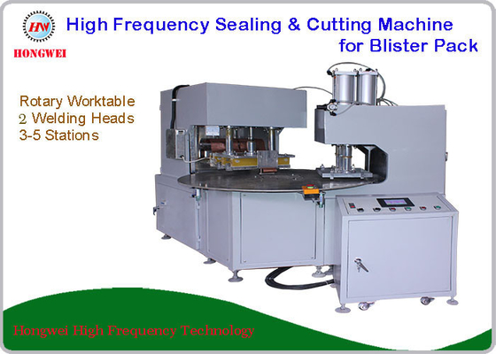 380V/50 Hz Double Head Welding Machine For Sealing And Cutting Blister Pack