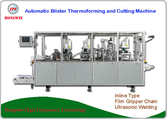 China Dual Head Blister Thermoforming Machine , Blister Packaging Equipment 380V/18KW supplier