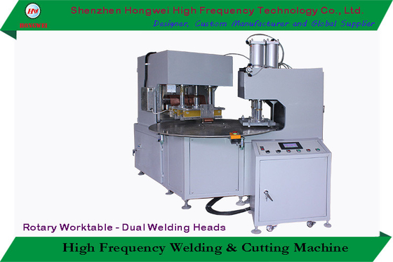 China 380V/50 Hz HF Blister Packaging Machine With High Efficiency Rotary Worktable supplier