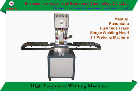 Single Head High Frequency PVC Welding Machine Electric Driven With Side Slides