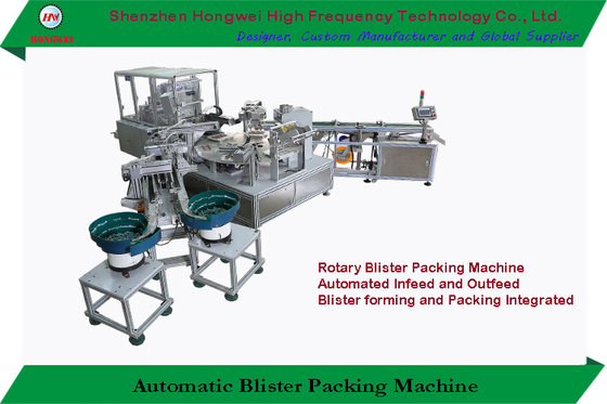 China 15KW Rotary Automatic Packing Machine 0.6MPa Easy Operation For Battery Blister supplier