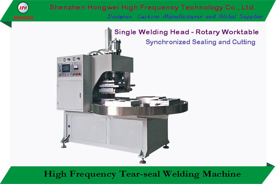 Turntable High Frequency Welding Machine Single Head For Big Toys Blister Pack
