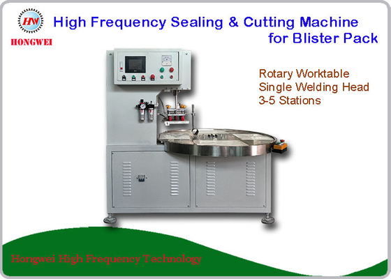 Turntable High Frequency Single Head Welding Machine For Big Toys Blister Pack