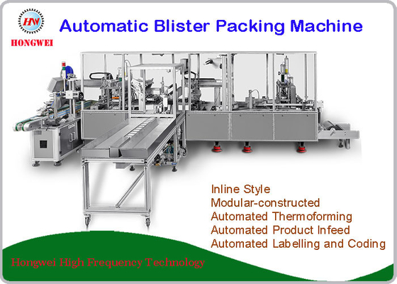 China Fully Automatic Blister Packing Machine PLC Control New Condition Servo Motor Driven distributor